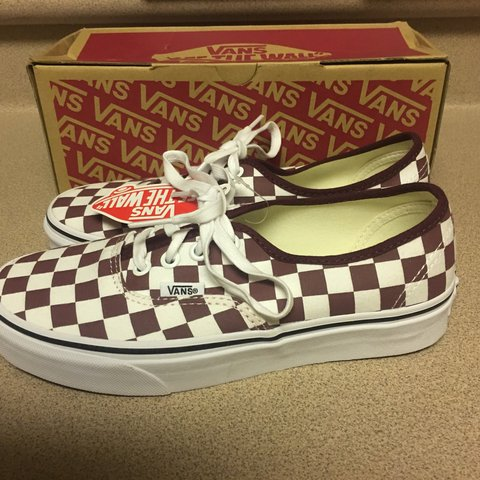 2ae41bebb1 New Vans Authentic Checkerboard Port Royale White Women s 6 - Depop