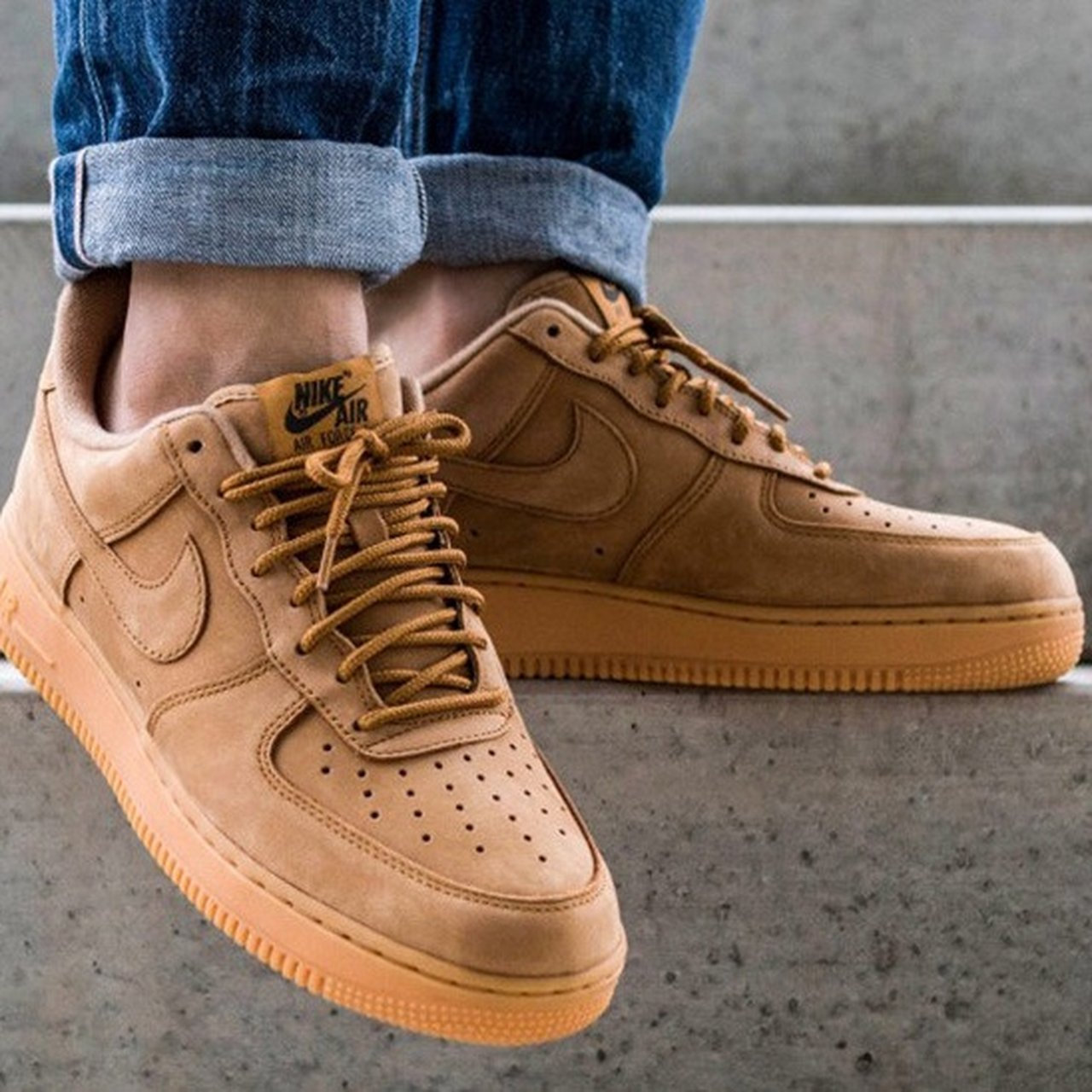 """hot sale online 64e3d e4c0a The Nike Air Force 1 Low """"Flax"""" Sz 9.5 Nike s Air Force 1 to - Depop"""