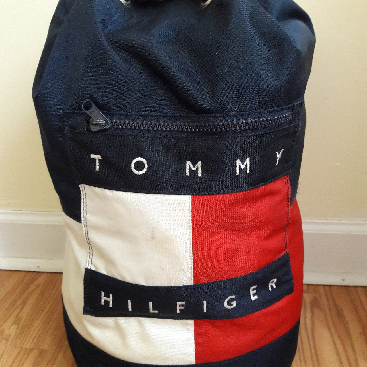 Vintage 90s  Tommy Hilfiger Duffle bag Excellent condition - Depop d2c4abb71de49