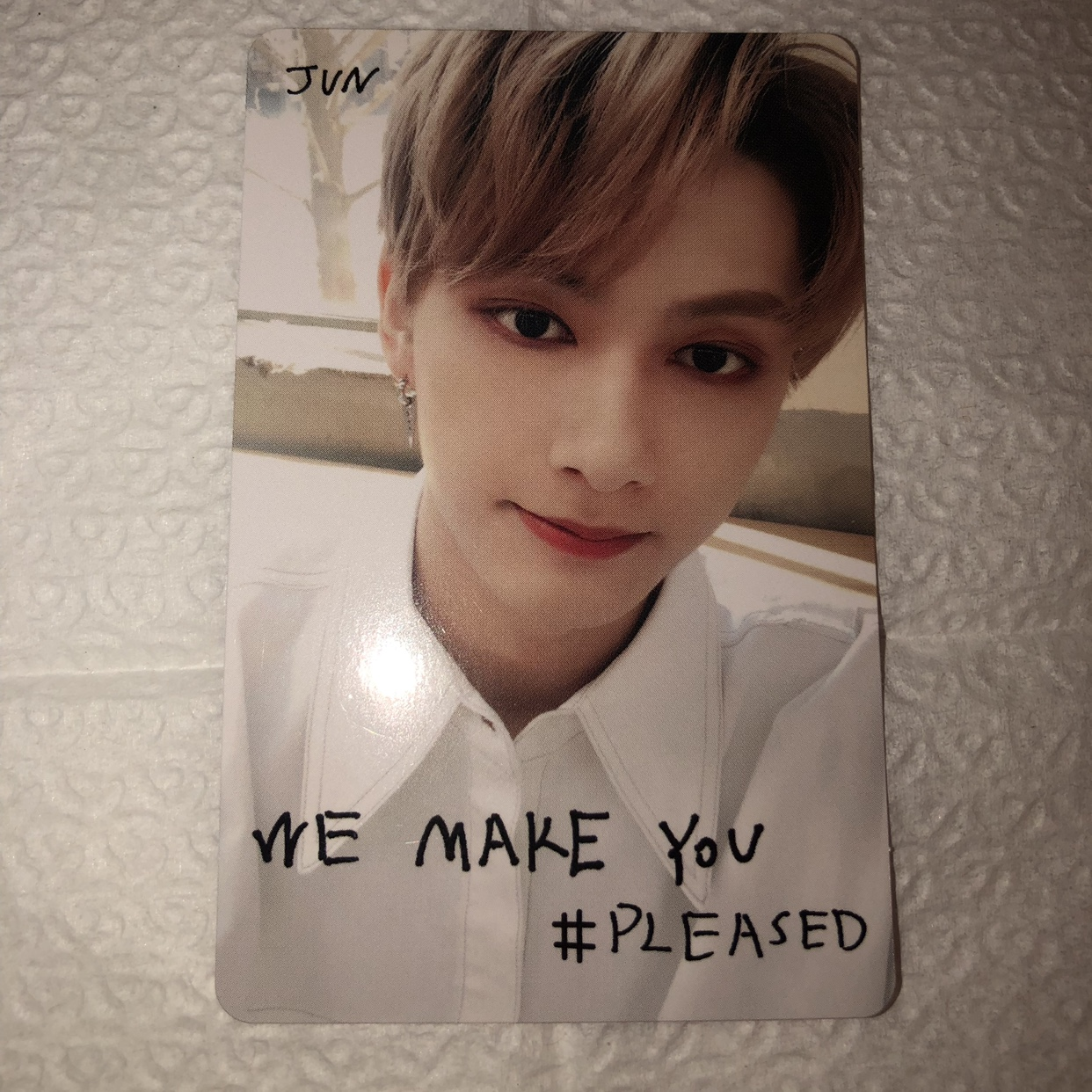 "Seventeen ""Jun"" {We Make You Pleased} photocard from"