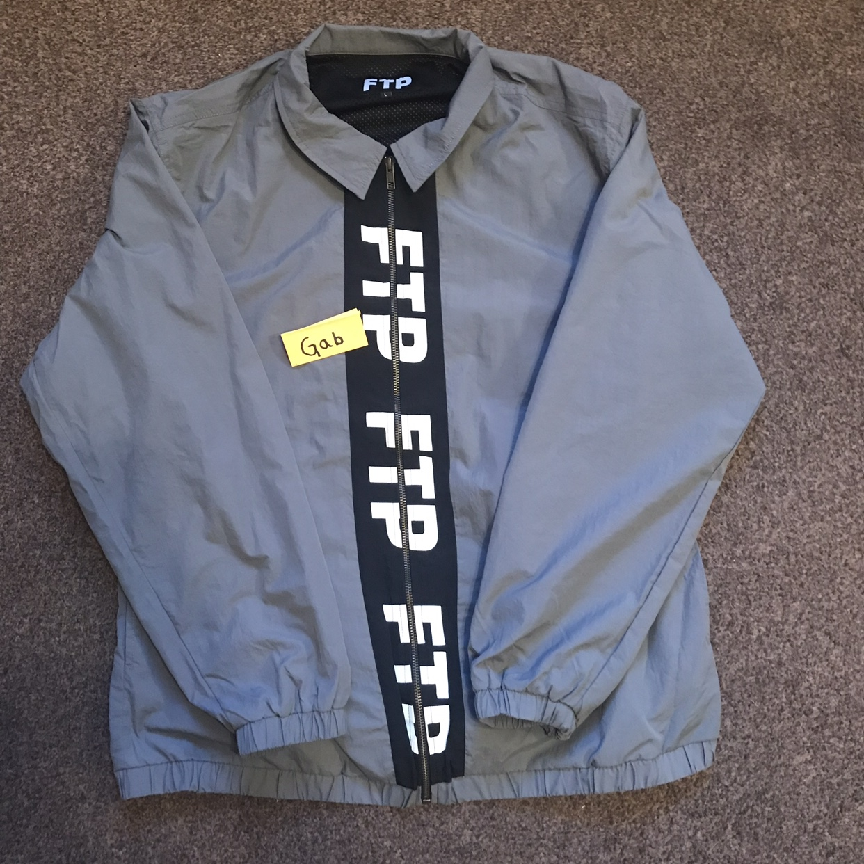 FTP shell/track/coach jacket Size Large Taken out of    - Depop