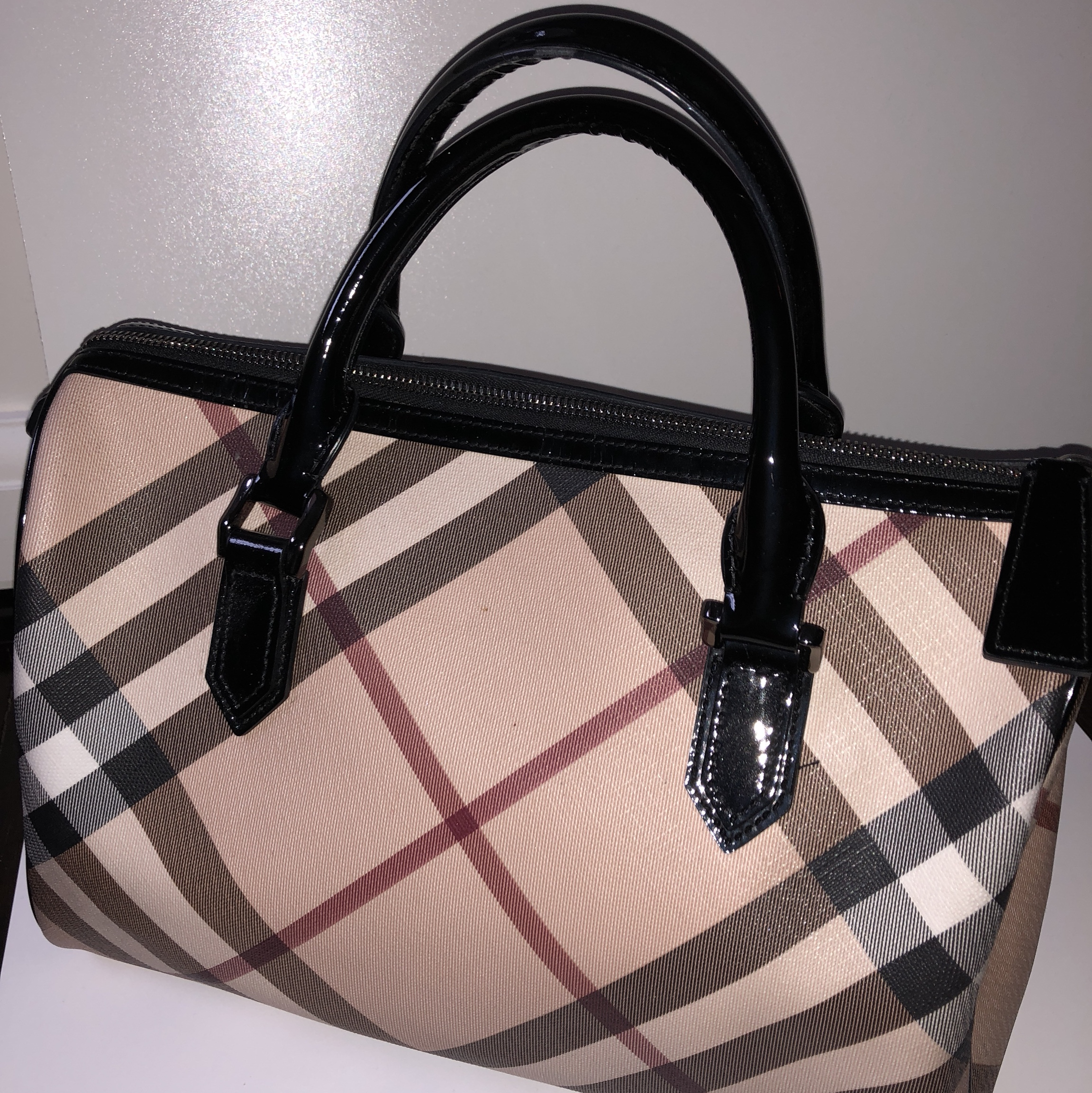 8cdbe7462501 Classic Burberry bowling bag in great condition! Previously - Depop