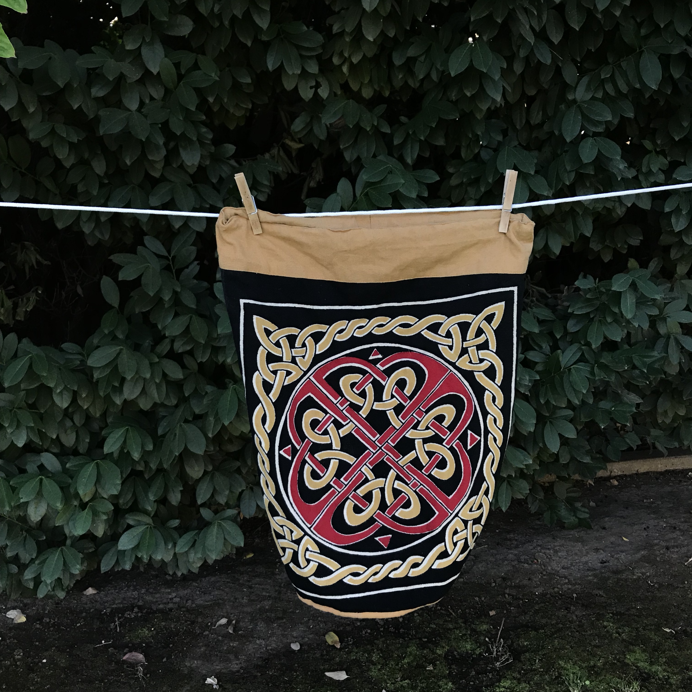 cute celtic design backpack! i found this at a cute    - Depop