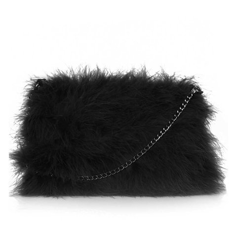 2638c6b33583 Topshop black fluffy bag used a few times good condition I - Depop