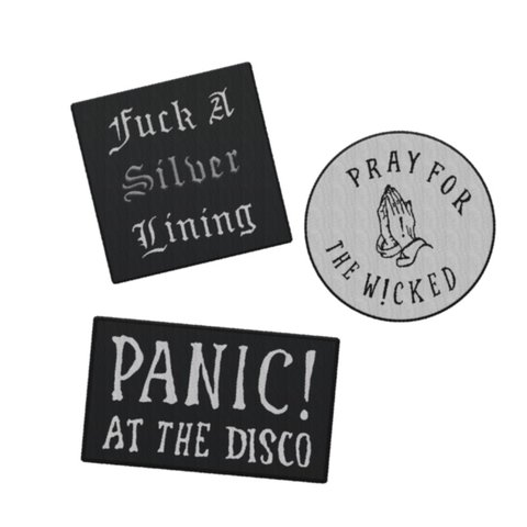 ca8c81b4 panic! at the disco pray for the wicked patch set that i got - Depop