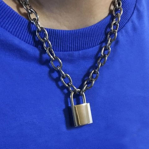 kors jewelry listing oversized chain padlock m michael poshmark necklace