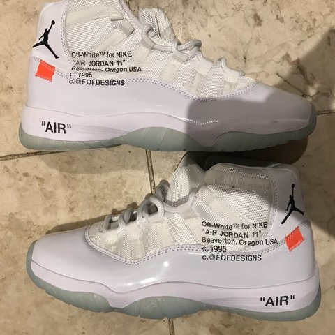 uk availability d4d5d 48c6f Off-White Air Jordans 11 - 1995 Retro Custom Not... - Depop
