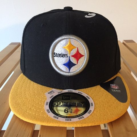fcc4481b2 New Era 59Fifty Pittsburgh Steelers Fitted Cap Brand new, - Depop