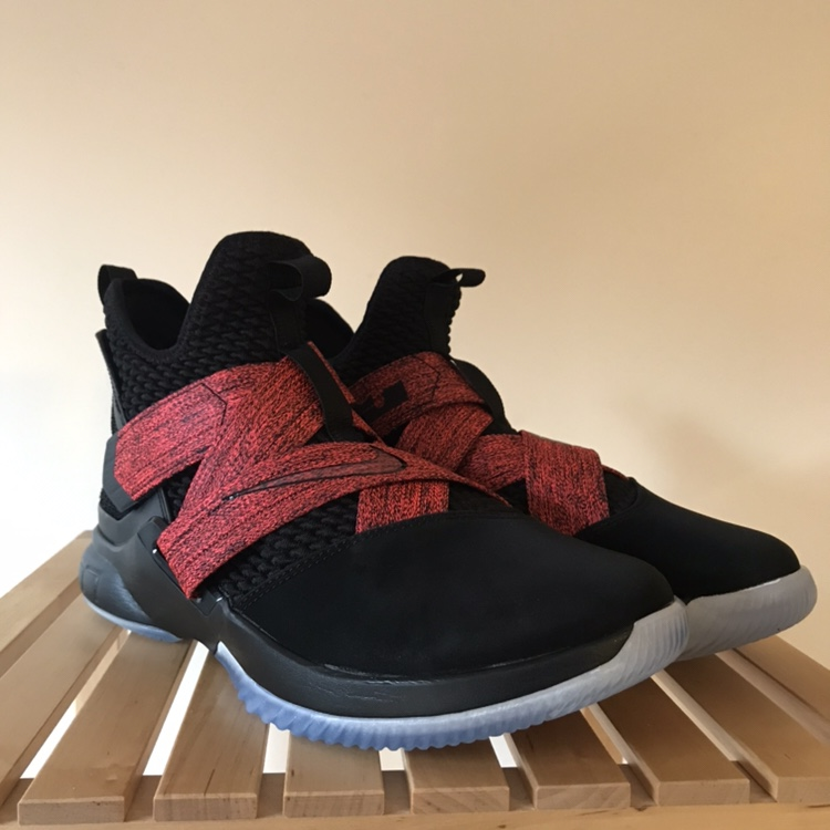 """newest 5c18f 299cf Nike LeBron Soldier 12 """"Bred"""" Brand new, without... - Depop"""