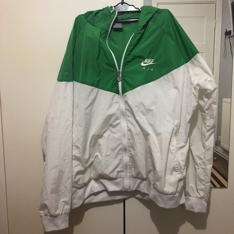 Nike green and white jacket  nike  vintage  tommy  gucci - Depop 5f7cf0964