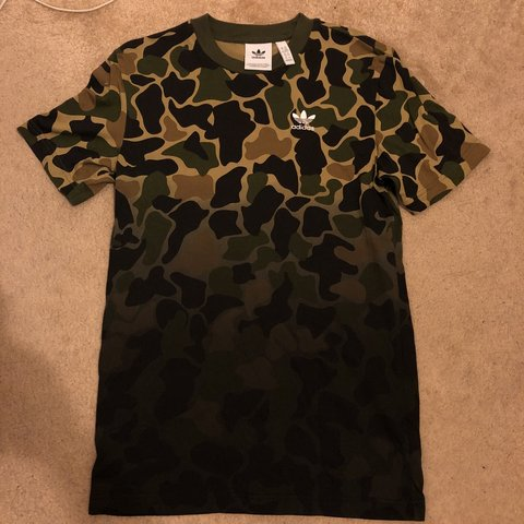 1d784a33cb5fd Adidas All Over Dip Dyed Camouflage Print Tee with trefoil - - Depop