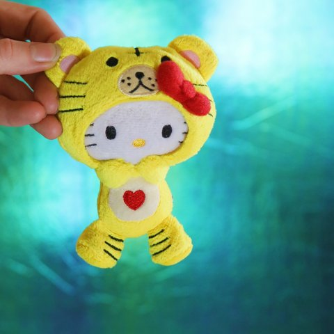 b25e79f4ddc Hello Kitty Plushie Dressed Up as a Tiger! From early 2000 s - Depop