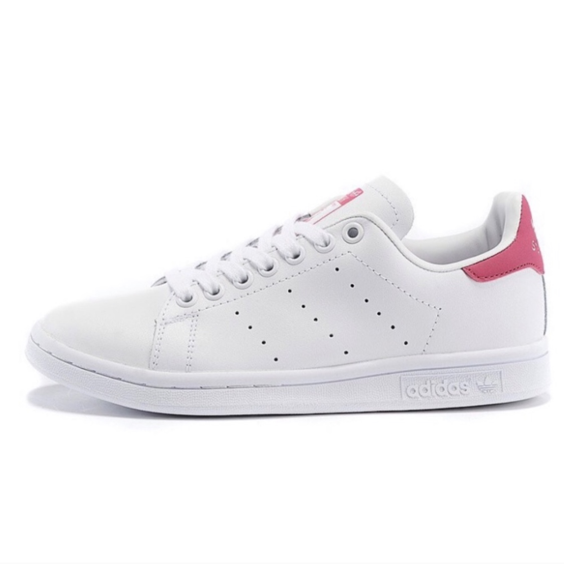 pretty nice e613a cab74 Adidas Pink Stan Smith Sneakers Size Men's 6 Fits... - Depop