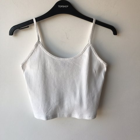 a235abe337 Topshop ribbed white cami top