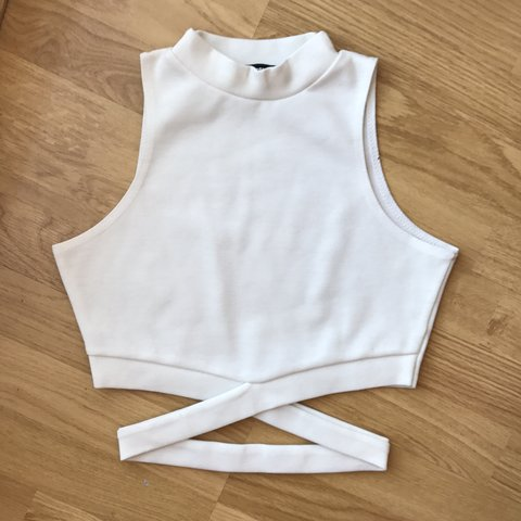 26f570fda8e0f3 Sold on eBay Missguided wrap around crop top