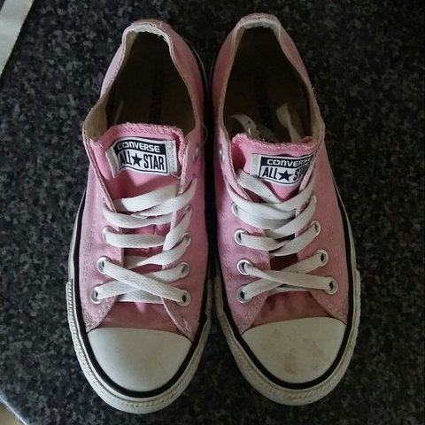 75a7eb3844bc Pink converse trainers size 5 have been worn..will need a or - Depop
