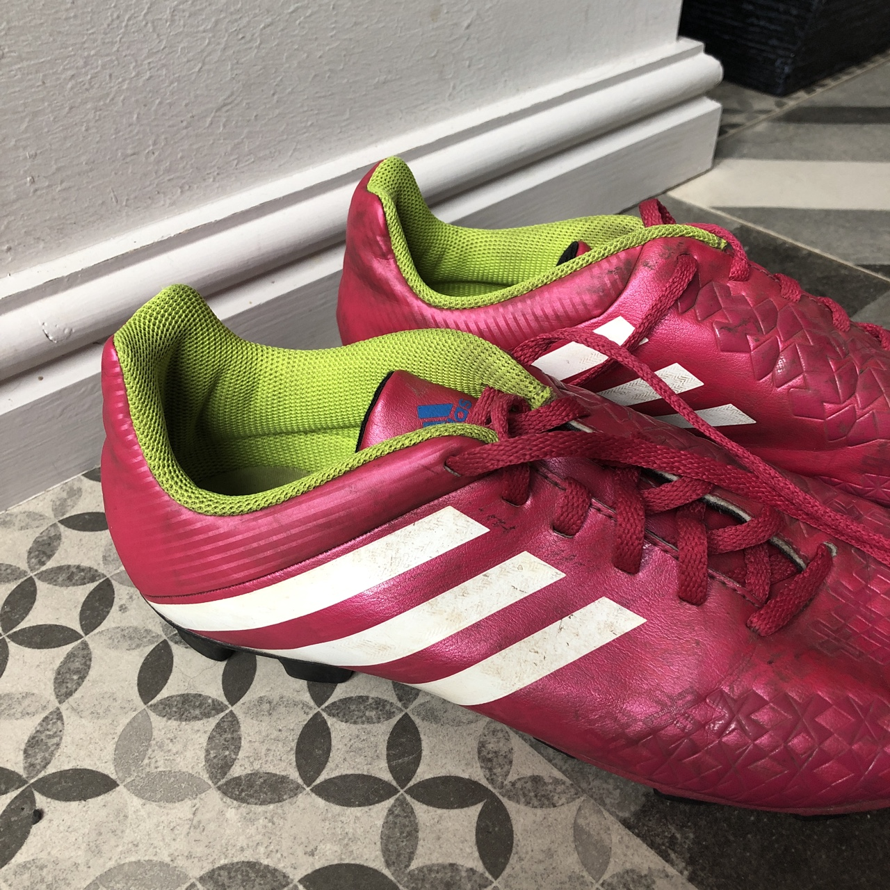 REDUCED, Pink and green football boots , Adidas , Pink...