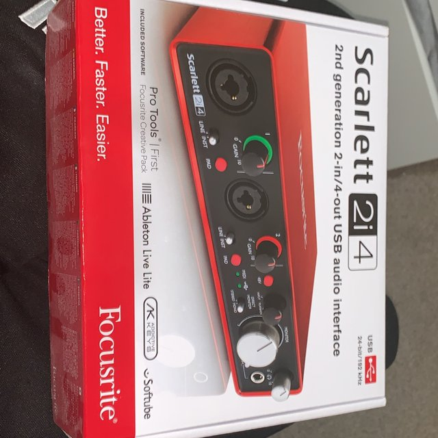 Focusrite 2i4 audio interface  Are you an up and    - Depop