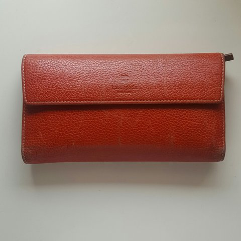 3237eade77 Authentic Vintage Kate Spade Red Wallet Made in Italy This - Depop