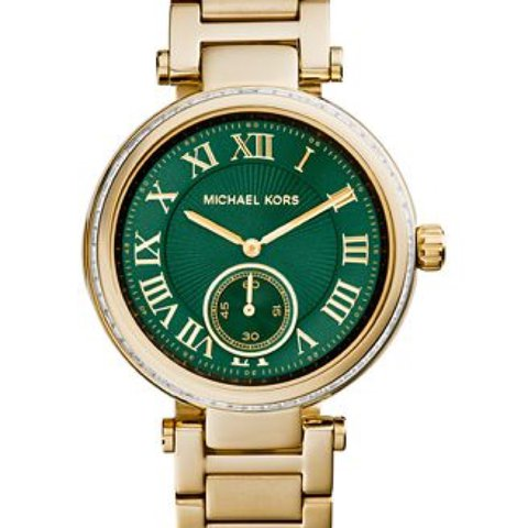 2429da78f91c 100% genuine Michael Kors green and gold watch!! Does of - Depop