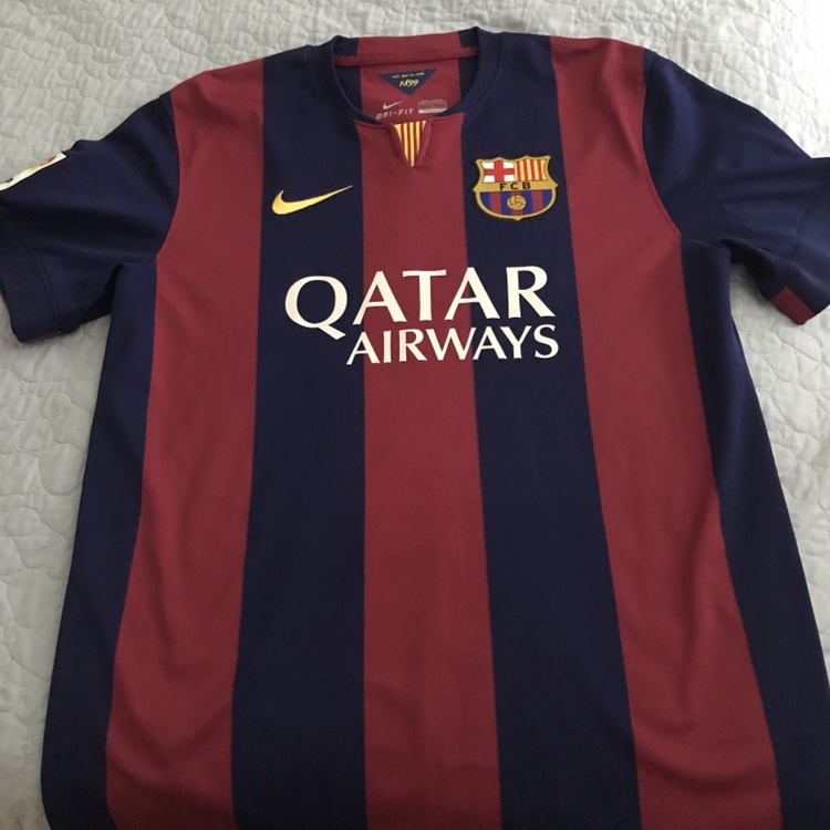 promo code 102a7 9924a 2014/2015 Barcelona jersey. No name on the back.... - Depop