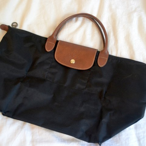 7504d1226377 Authentic Longchamp Le Pliage Top Handle Medium in Black. in - Depop