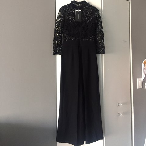 9e354211088 Zara jumpsuit. NWT. Lace jumpsuit. Bandeau attached. cropped - Depop
