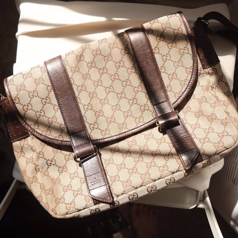 4330fdc580 @alllthewildhorses. 6 months ago. Alameda, United States. Gucci GG monogram  crossbody messenger bag.