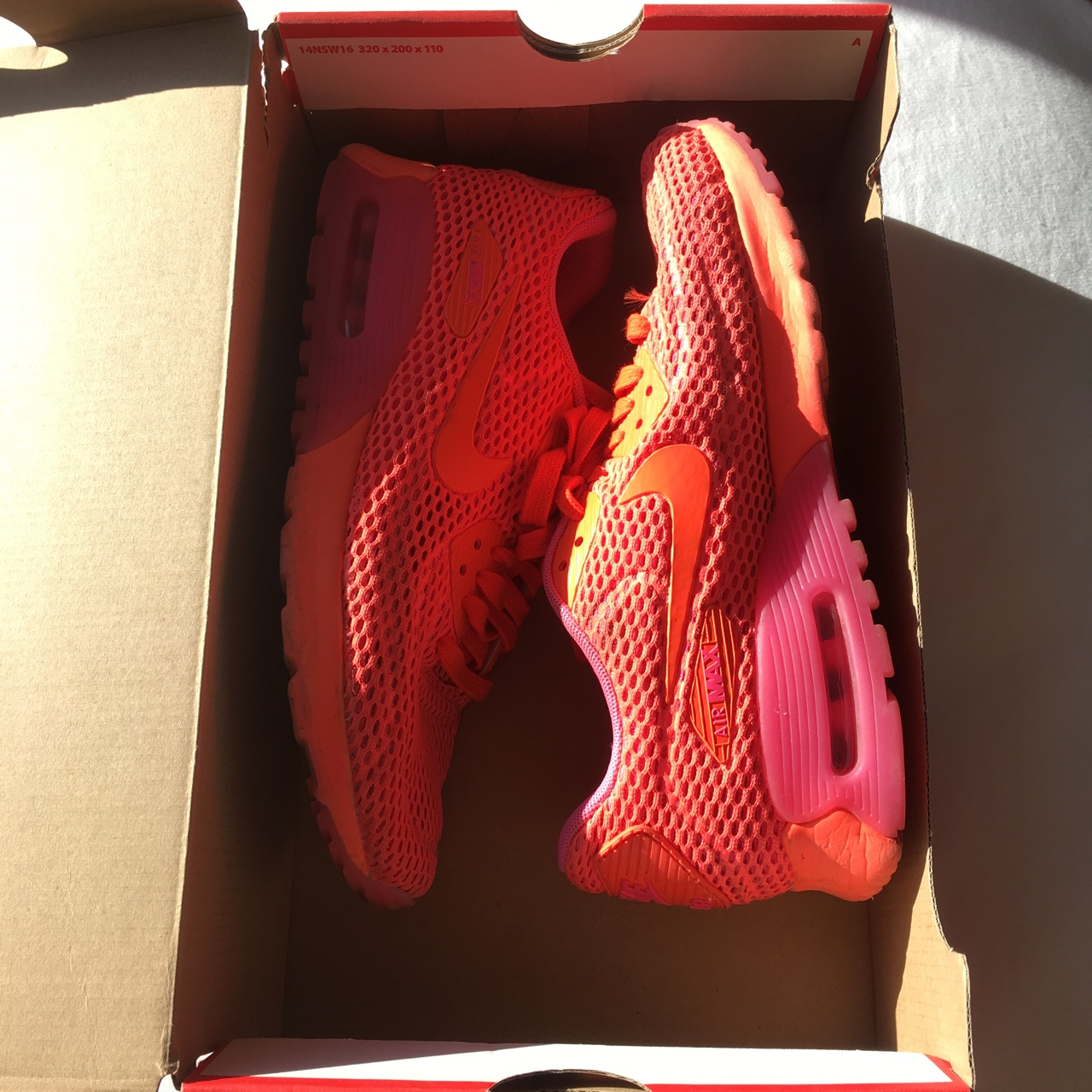 Red And Pink Nike Air Max 97 Only Worn A Few Depop