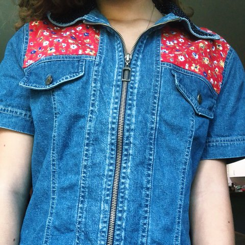 aee720ebfb awesome vintage 70s 80s patterned denim shirt   jacket!! so - Depop