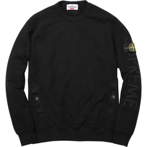 76f90b9ea0 @tombrierley97. 3 years ago. United Kingdom. Supreme x Stone Island black long  sleeve ...