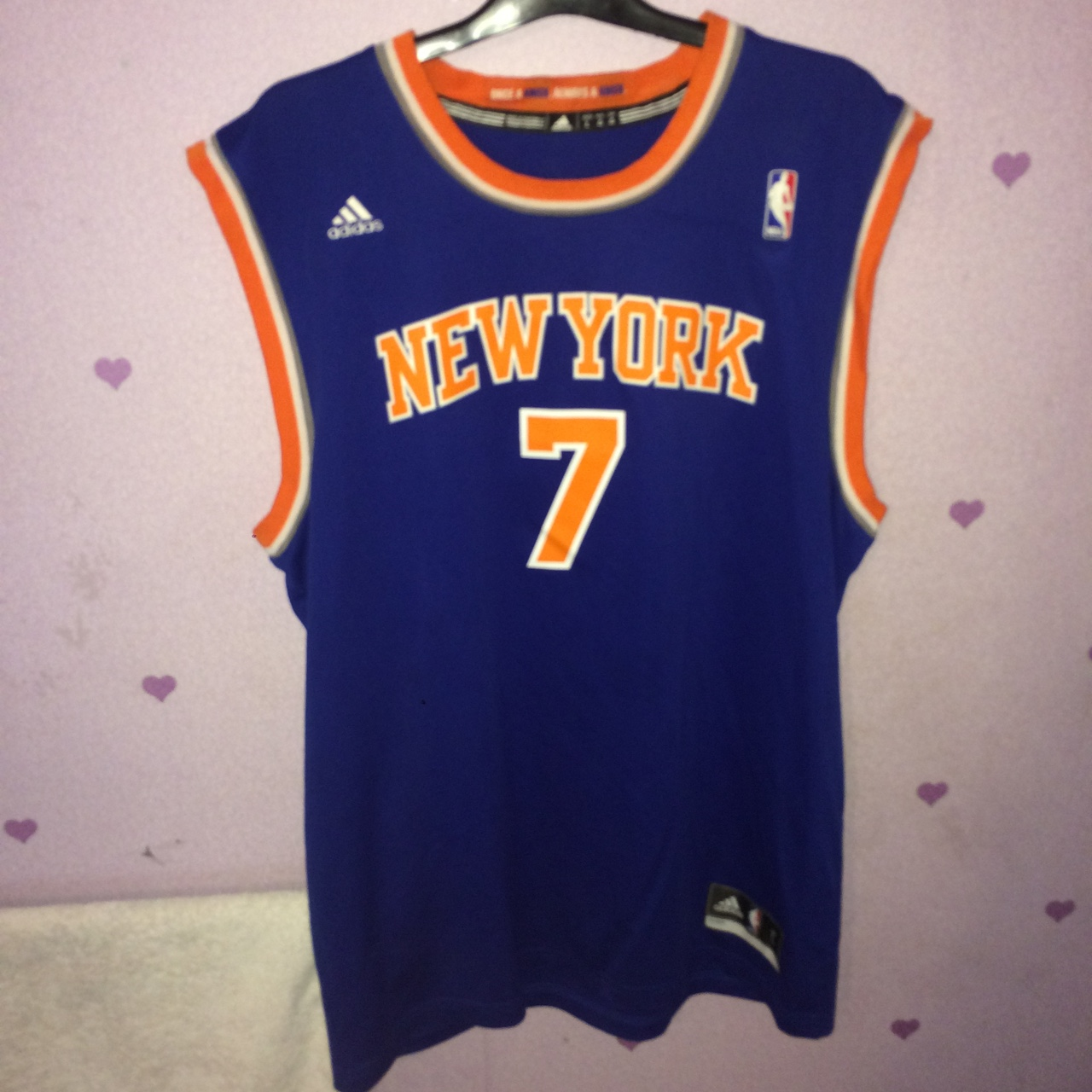 buy online f4d12 15a3d Official authentic New York knicks jersey, no.7... - Depop