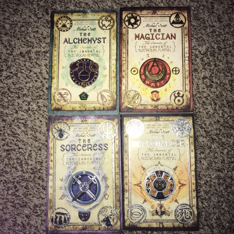 The first four books in the Nicholas Flamel series    - Depop