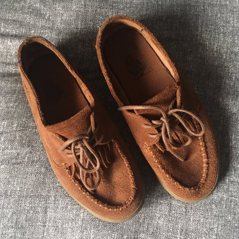 64e2c4eaa320 Vans suede mocs! Worn but in excellent condition. Size 7     - Depop