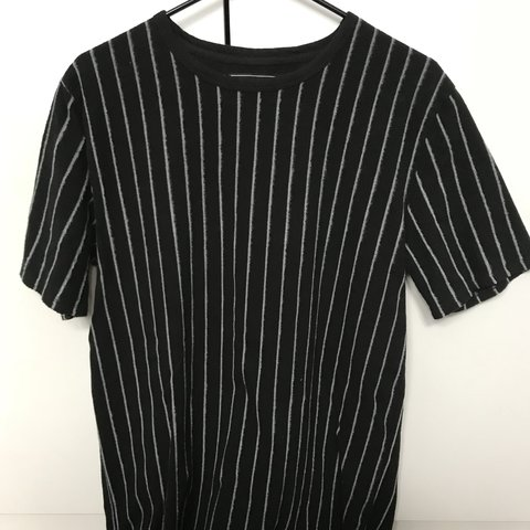 5ce26241 @thesalclark. last year. New York, United States. Black and White Striped T-Shirt  Forever 21 Men's Large