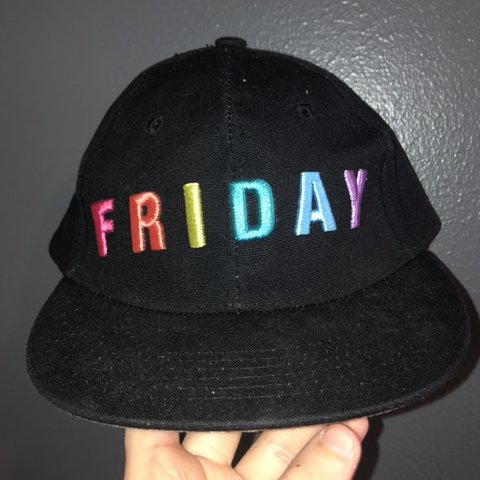 ab4e4ee4a240c rainbow friday hat from forever 21! one size fits f21 black - Depop