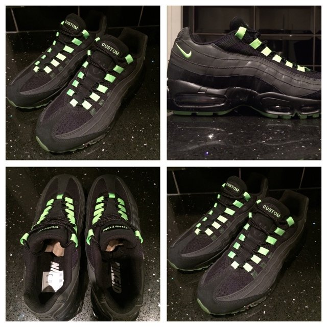 designer fashion 32419 54279  mikbarts. 5 years ago. London Borough of Camden, Greater London, UK. Nike  Air Max 95 custom Nike Id trainers in size uk 8 brand new with no box ...