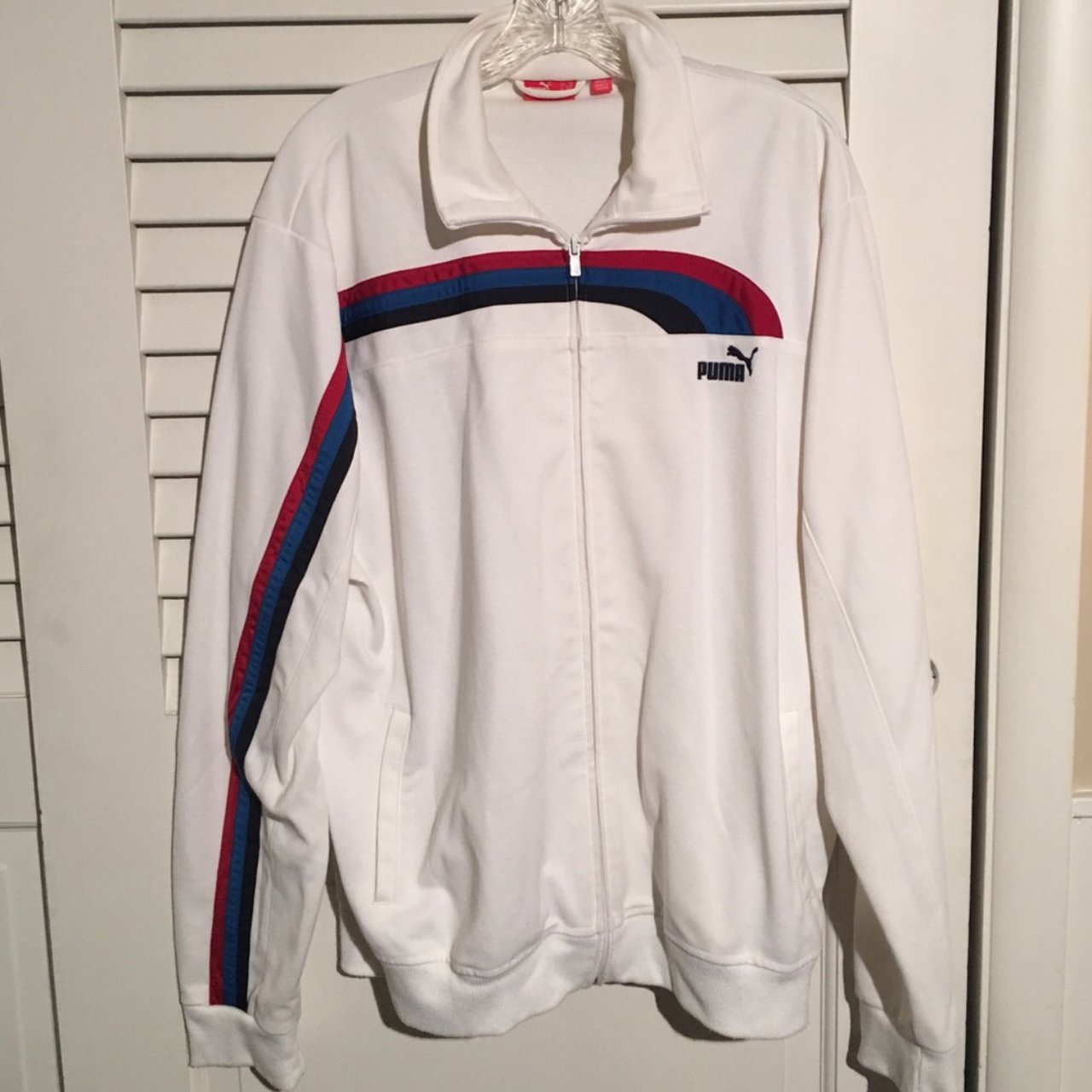 8f2b9bacd157e5 Super unique puma track jacket! Great condition Tags: Nike - Depop