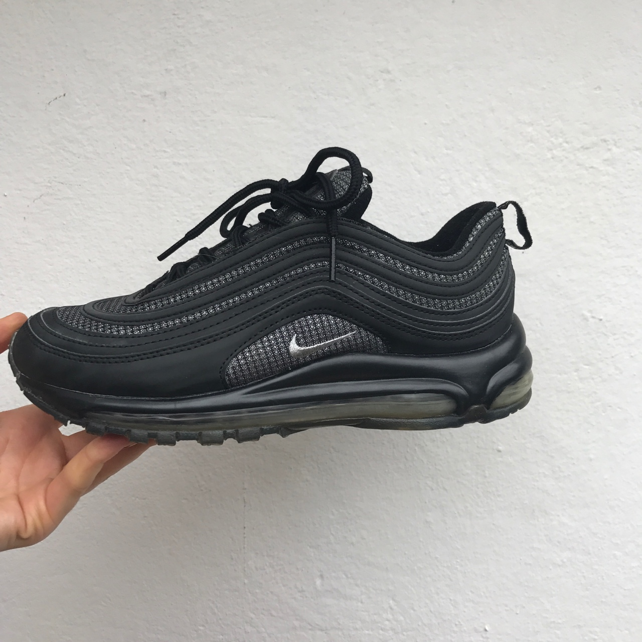 Nike air max 97 black reflective shiny glitter Depop