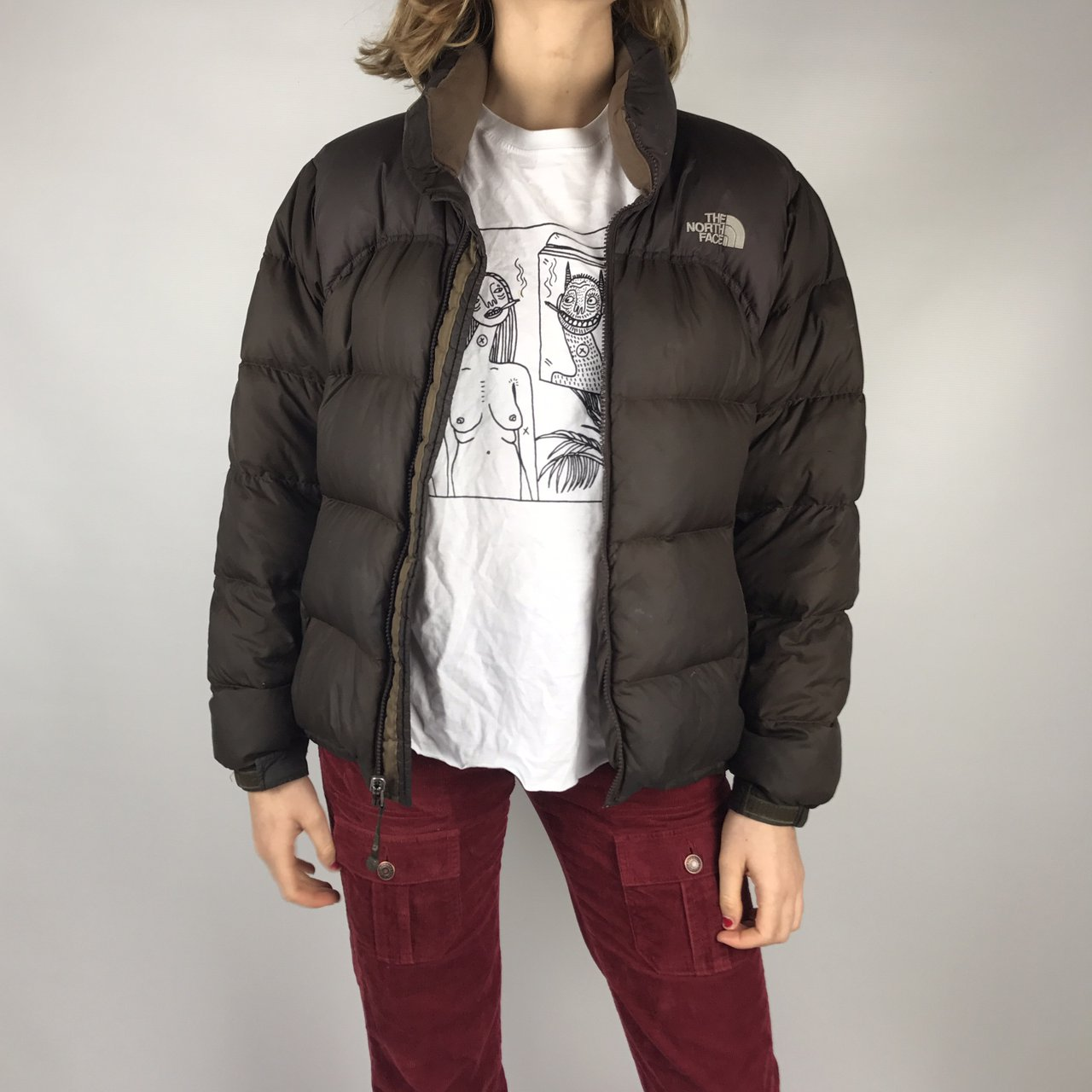 Women s north face down filled nuptse 700 puffer jacket in  e06c017f0