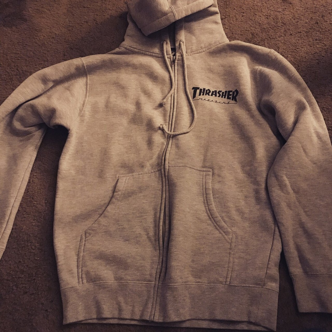 Authentic THRASHER Zip Up Hoodie. It s actually made by the - Depop ebe0e5cd2c
