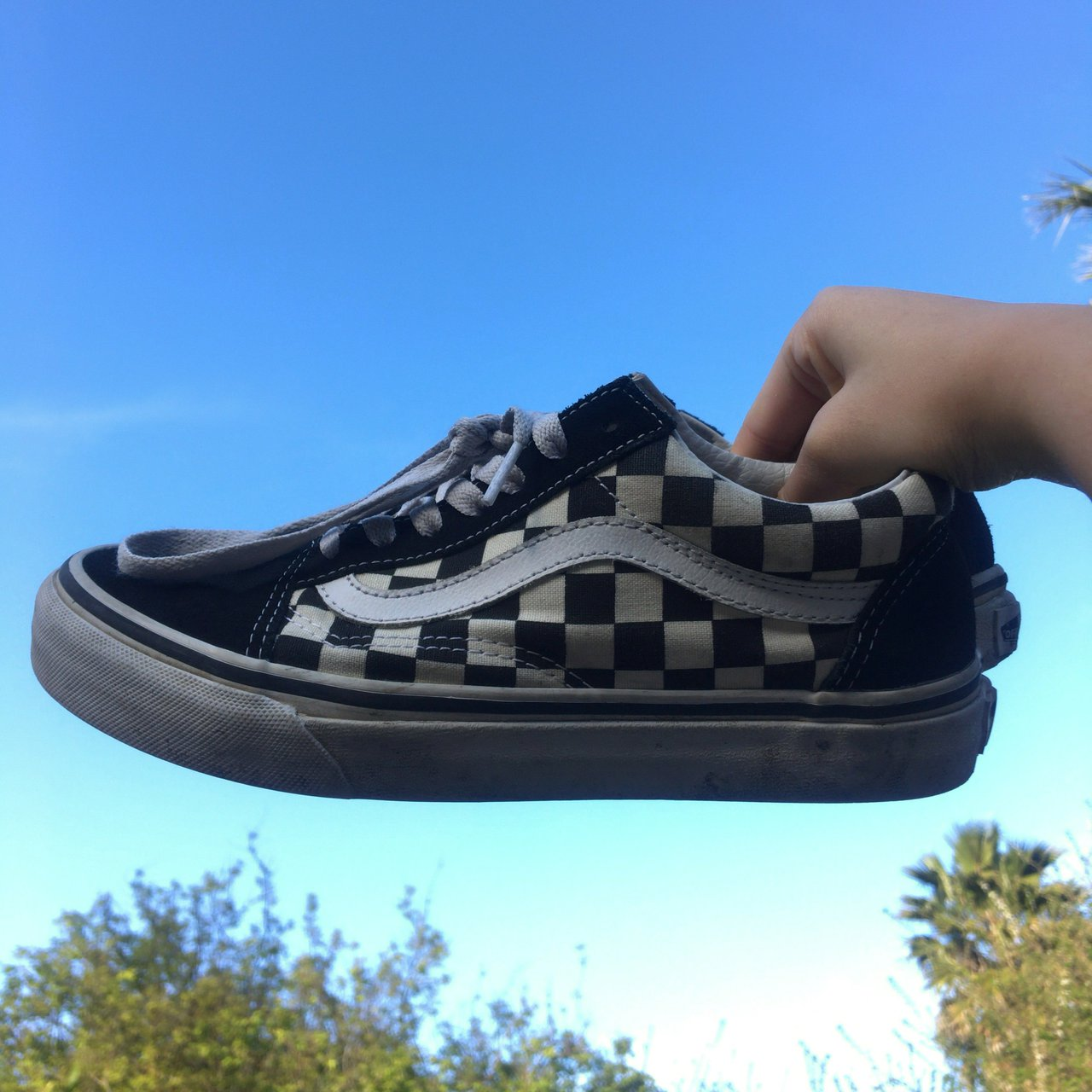 e83a86d1f1b  hantoto. 11 months ago. United States. checkered vans old skools size 7  women s and ...