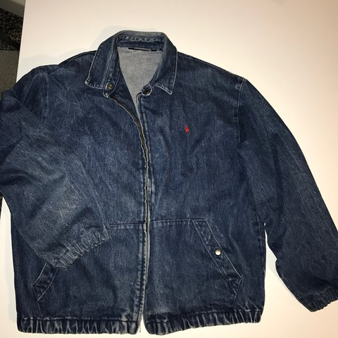 3457d3997f Vintage Polo Ralph Lauren denim jacket . Zip up jacket .