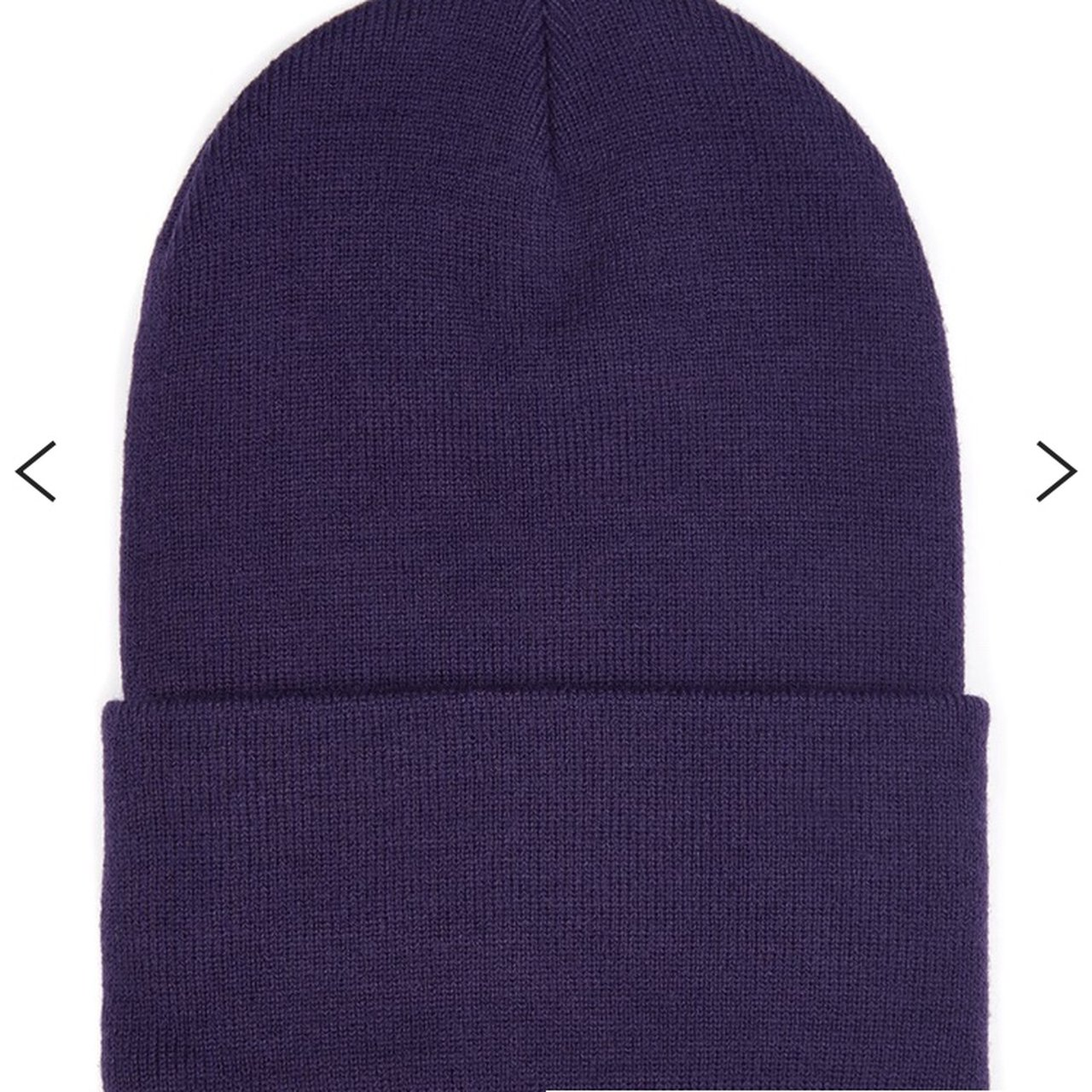 Topman plum   purple skater beanie. Pretty tight which is it - Depop 00b650b56311