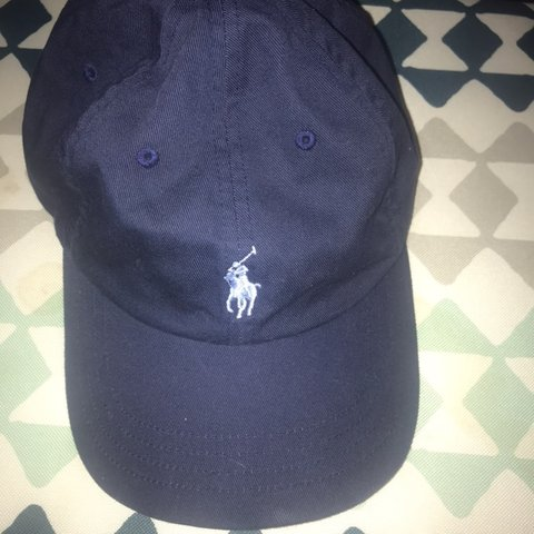 698fa8f8d899 Polo hat Navy blue with Light Blue Polo sign. Very comfy no - Depop