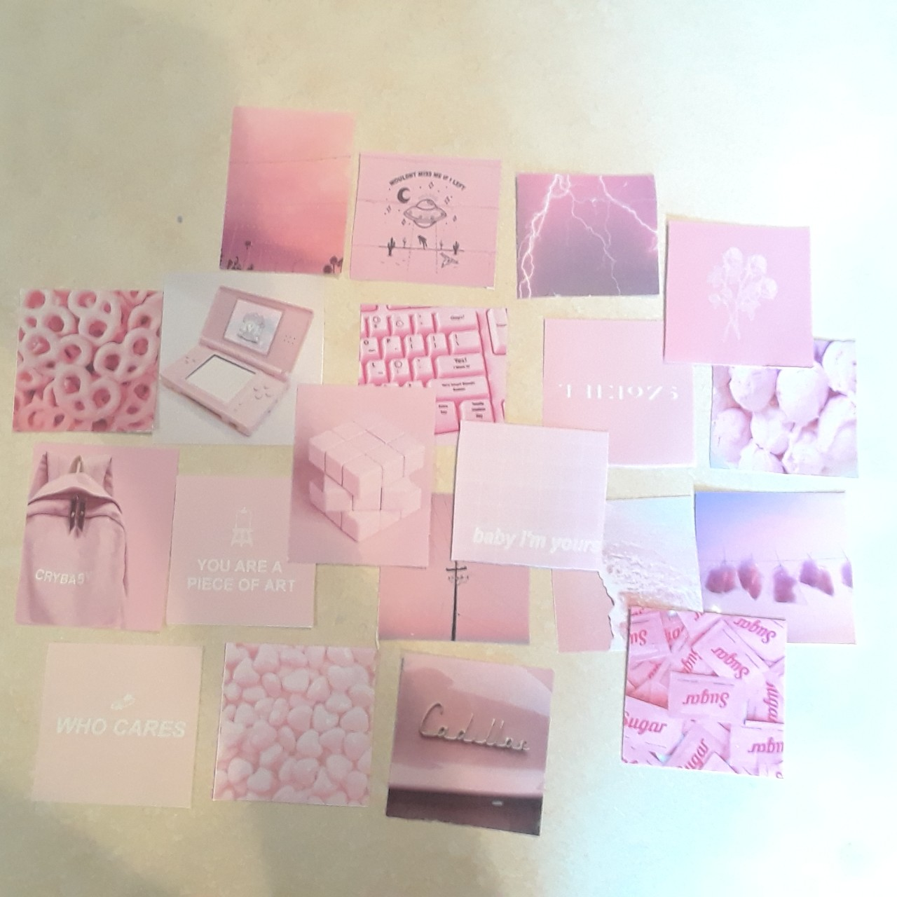 Homemade Pink Pastel Aesthetic Stickers Perfect For Depop