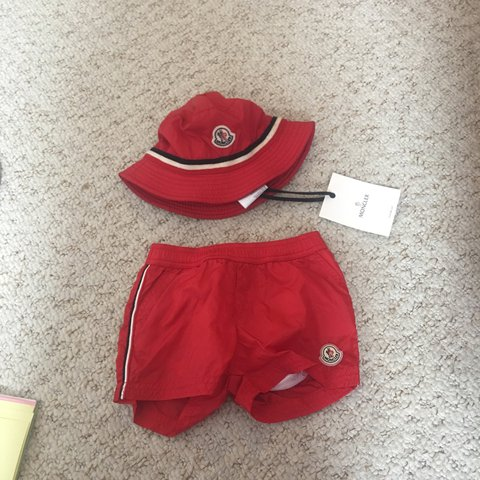 ab8e0c870 Baby moncler swimshorts and bucket hat shorts have. Been for - Depop
