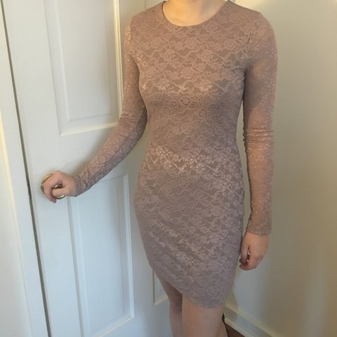 d61c2cef9db0 @allan_m. 6 months ago. Hanover, United States. Blush colored lace dress. Never  worn. Hits right above ...