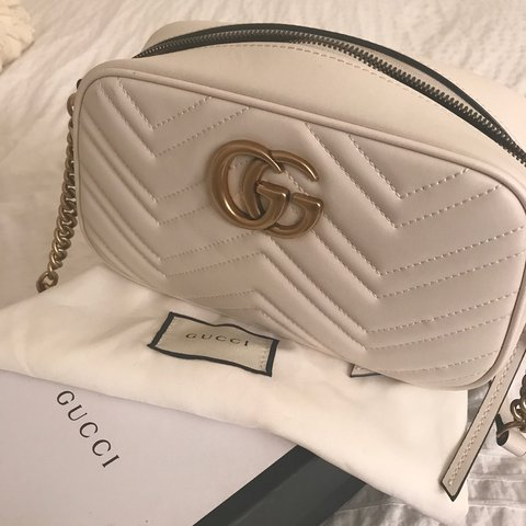 023212b56c33d Gucci Marmont Camera Bag Cream color 100% leather Comes bag - Depop