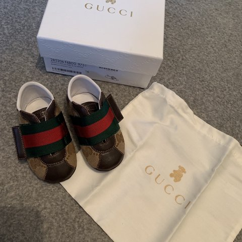 4d9ae8820fe Gucci baby pram shoes. Size 16. Immaculate condition. Only a - Depop